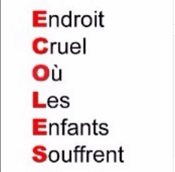 ECOLES (Vrai Signification)
