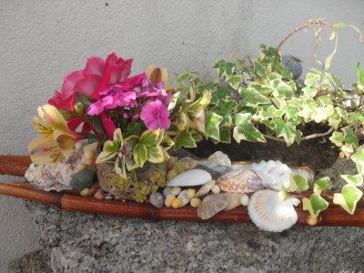 Centre de table esprit bord de mer art floral for Bouquet bois flotte