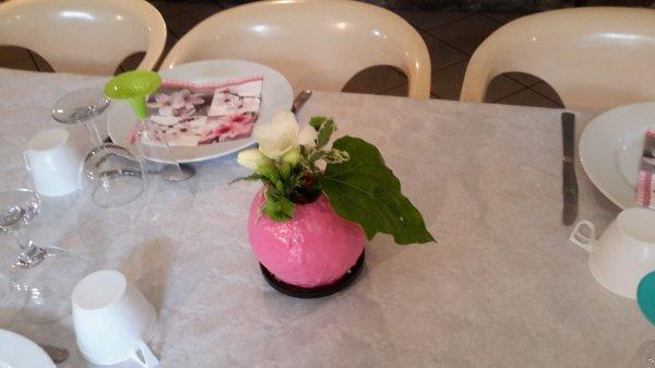 décoration  de table de communion