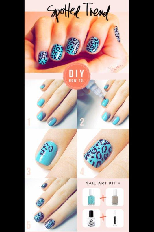 Nail art Leopard :D