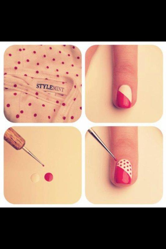 Nail art à pois :)