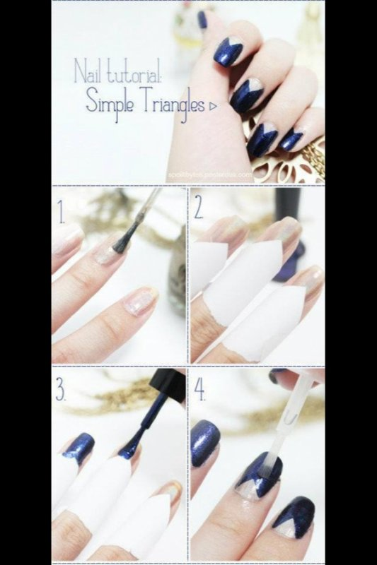 Nail art triangles ^^