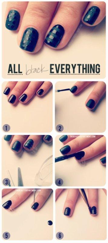 Nail-art black ^^