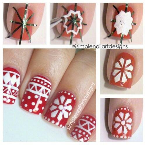 Nail art hiver !!