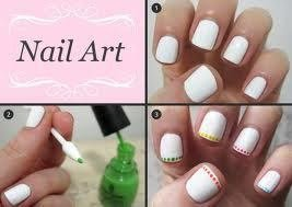 Nail art french manucure à pois