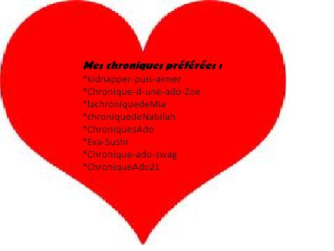 Chroniques Préférées ♥