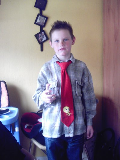 Moi avec la cravate titi de papa