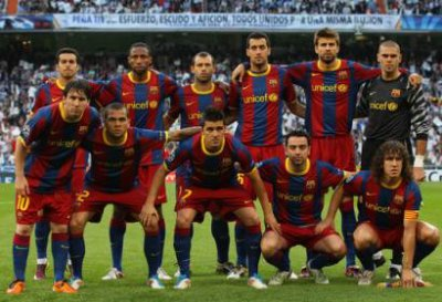 Equipe de foot du FC BARCELONA
