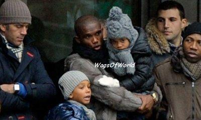 Samuel Eto'o & ses enfants (Photo récente)