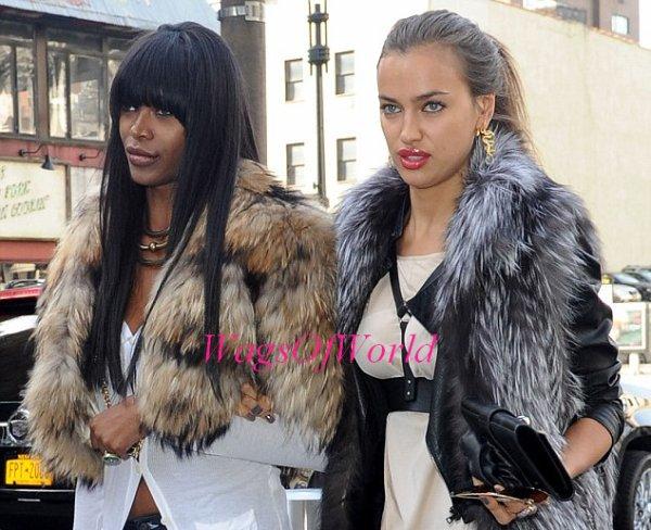 Aperçu : Irina Shayk allant assister à un autre match de basket à New-York avec son amie Jessica .