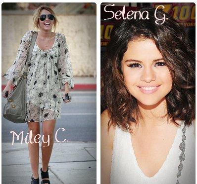 Miley Cyrus       ________________________ Selena Gomez