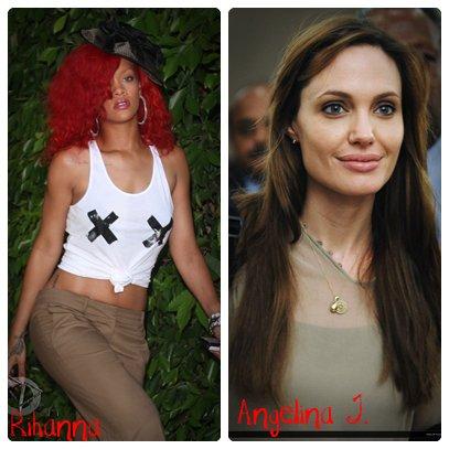 Rihanna       ________________________ Angelina Jolie