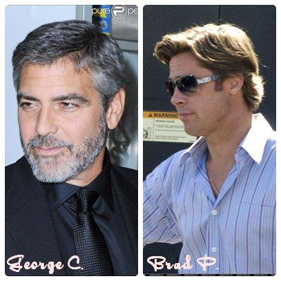 George Clooney       ________________________ Brad Pitt