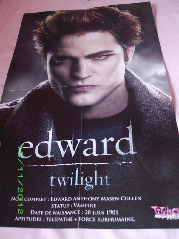 Poster Edward (Twilight) / Hannah Montana (le film)