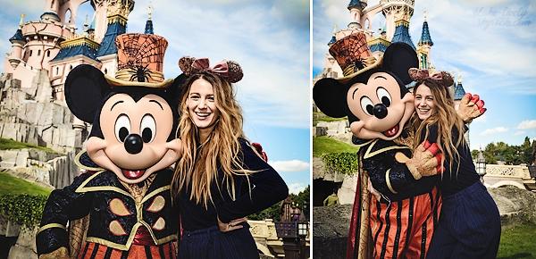 """. • Découvrez deux photos de Blake prises à """"Disneyland Paris"""" lors de son séjour dans la capitale française :  Retour en enfance pour Blake qui s'est fait plaisir en prenant la pose avec Mickey ! J'adore les photos, elle est trop mignonne avec ses oreilles aha"""