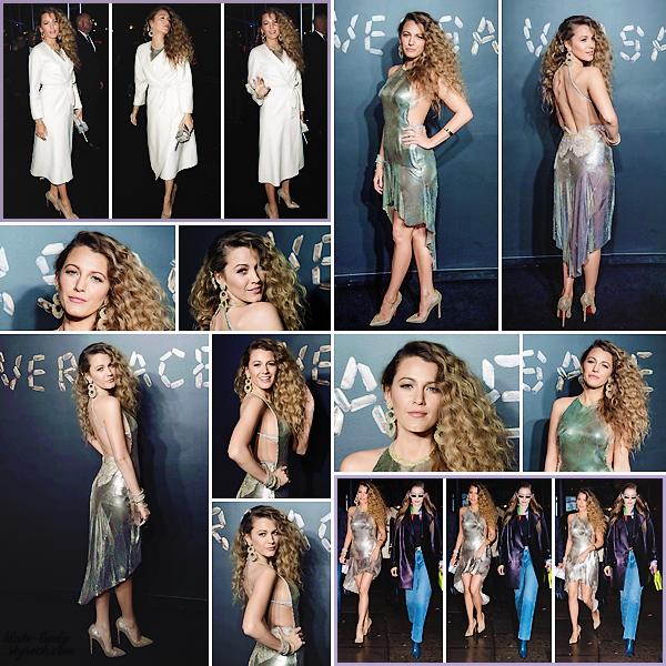 . • 02/12/18  : Blake Lively était présente front-row au défilé d'automne « Versace » organisé dans New-York (US) : Vêtue d'une robe vintage de la marque, la belle était plus que magnifique ! Elle a aussi été vue arrivant et quittant les lieux avec Gigi Hadid. Un top !
