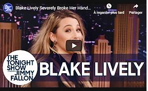 . • 29/01/20  : Blake était sur le plateau de l'émission « The Tonight Show with Jimmy Fallon » à New-York (US) : Dernier arrêt de cette promotion new-yorkaise pour le film The Rhythm Section. Elle portait une robe signée Prada. Jolie et souriante, un beau top !