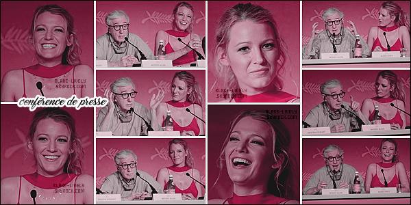 . 11/05/16 : Blake L. était au photocall de son prochain film « Cafe Society » pendant le festival de Cannes (FR) : La promotion a donc commencé pour miss Lively qui s'est, par la suite, également rendue à la conférence de presse avec le reste du casting. Top ! .