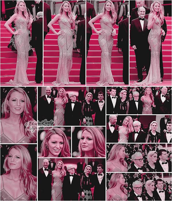 . 11/05/16 : Blake L . a monté les prestigieuses marches du festival de Cannes pour son film « Cafe Society » : Miss Lively était époustouflante en robe Versace ! Elle était en compagnie de l'intégralité du casting ainsi que le réalisateur Woody Allen. Beau Top ! .