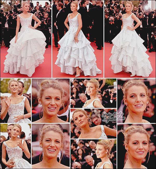 . 13/05/16 : Blake L. a remonté les marches du festival pour la projection du film « Ma Loute » à Cannes (FR) : Digne d'une princesse, miss Lively a foulé le tapis rouge en robe Vivienne Westwood ! Ensuite elle s'est rendue au L'Oréal Paris Red Carpet. .