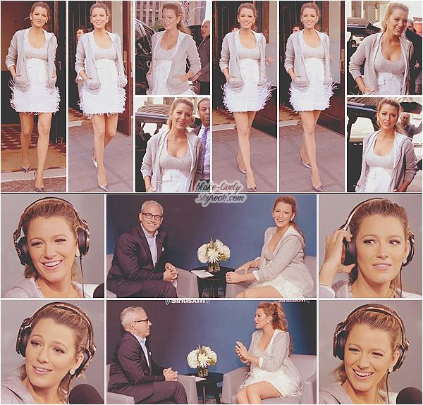 . 21/06/16 : De bon matin, Blake a été vue quittant son hôtel direction la radio « Sirius XM »  à New-York  (US) : Nouvelle journée promotionnelle pour la futur maman qui débute par une nouvelle interview radio . J'aime beaucoup sa tenue globalement ,  top ! ♥ .
