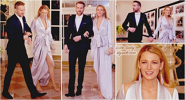 . 10/03/16 : Blake & Ryan Reynolds étaient au dîner d'état « Trudeau State Dinner » à la Maison Blanche (PA) : Au bras de son mari, Blake était toute souriante & rayonnante de beauté ! Elle portait une magnifique robe (de chambre :p) Ralph & Russo. Top ! .