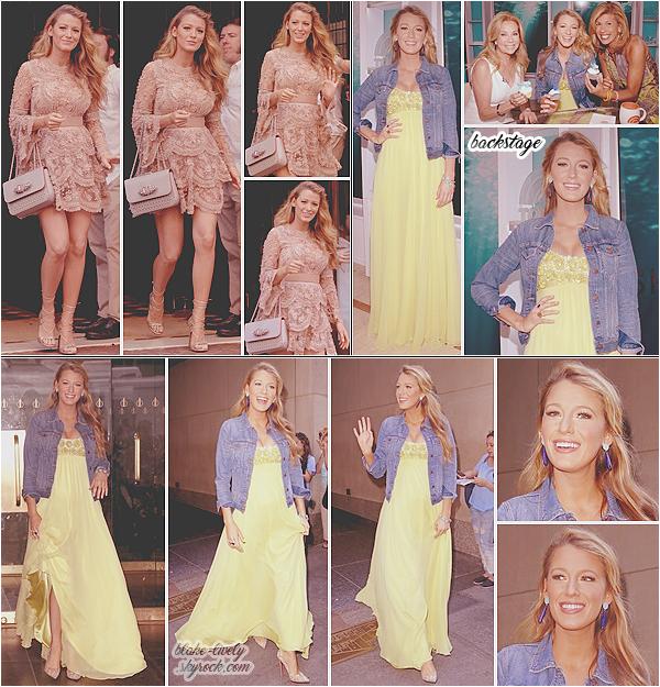 . 20/06/16 : Miss Blake L . quittait son hôtel pour se rendre à l'émission « The Today Show » à New-York  (US) : La belle faisait donc la promotion de son prochain film The Shallows. Découvrez des photos dans les backstage et à la sortie des studios du show.  .