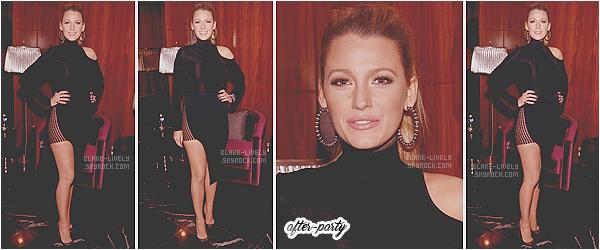 . 21/06/16 : Perfect Lively a assisté à l'avant première de son prochain film « The Shallows »  à New-York  (US) : Avec une partie de l'équipe du film, Blake rayonnait de beauté en robe Carolina Herrera ! C'est un magnifique top pour moi, qu'en pensez-vous? .
