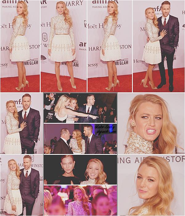 . 11/02/16 : Blake et son mari Ryan Reynolds étaient au « Amfar Gala » organisé dans la ville de New-York (US) : Complice & plus amoureux que jamais les 02 tourtereaux ont assisté au gala annuel qui avait lieu au très célèbre Cipriani Wall Street. Beaux tops !  .