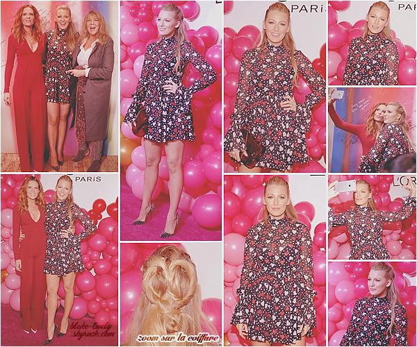 . 13/02/2017 : Blake était au lancement de la collection « L'Oréal Paris Paints & Colorista » à New-York (US) : C'est Blake elle-même (entre autres) qui a organisé cet événement ! Elle était en compagnie de sa s½ur Robyn & sa mère Elaine. Un beau top! Avis ?