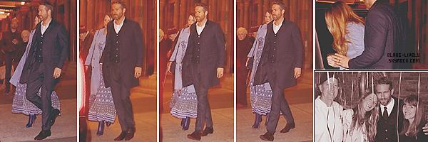 . 27/10/16 : Blake & Ryan Reynolds ont été vus quittant le théâtre « NewYork City Center » dans New-York (US) Nos petits mariés préférés ont assisté à la représentation: Sunday in the park with George. Peu de photos dispo mais j'adore les voir ensemble ! .