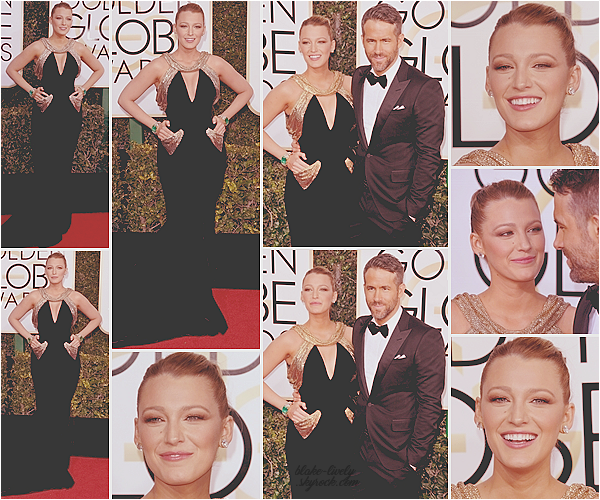 . 08/01/2017 : Mr & Mrs Reynolds assistaient à la cérémonie annuelle des « Golden Globes » à Los Angeles (CA): Sublimissime en robe Atelier Versace, Blake était venu soutenir son mari Ryan , nominé dans une catégorie meilleur acteur pendant la soirée. Top! ♥