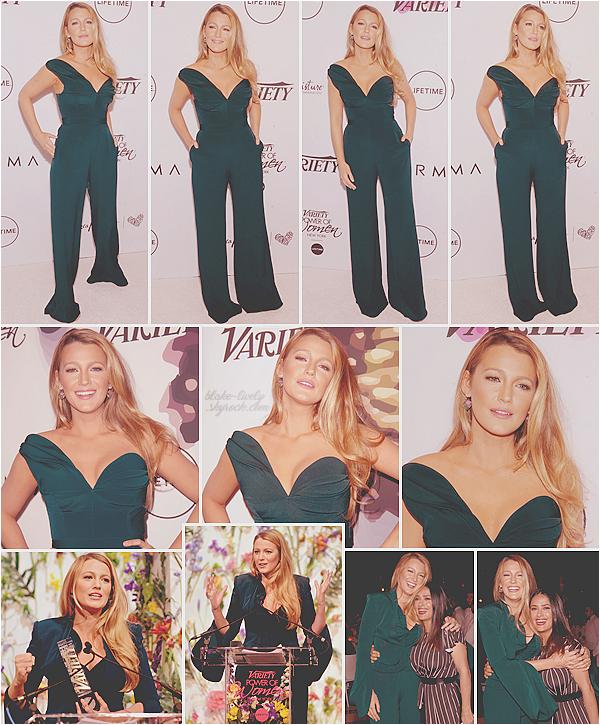 . 21/04/17 : Blake était à l'événement du magasine « Variety - Power of Women  » organisé à New-York (US) : Blake a reçu un prix pour son engagement envers le droit des femmes. Elle a posé avec son amie Salma Hayek . Top, j'adore la tenue et couleur !