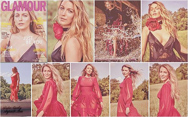 . • Découvrez la sublime Blake en couverture du magasine « Glamour UK » pour le mois de septembre 2017 :
