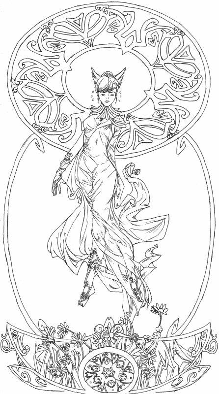 Une déesse à la Alfonse Mucha.