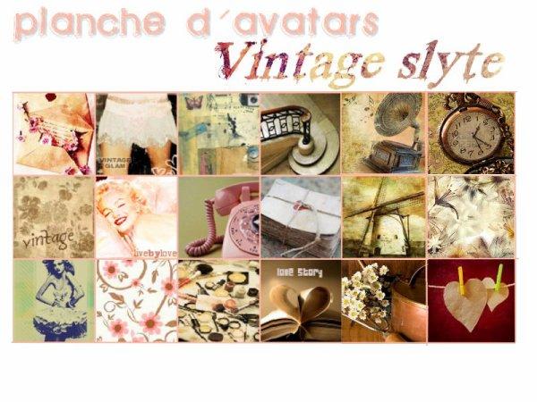 planche d'avatars vintage style