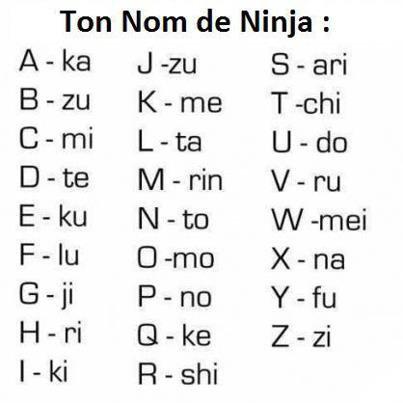 Ton nom de ninja!
