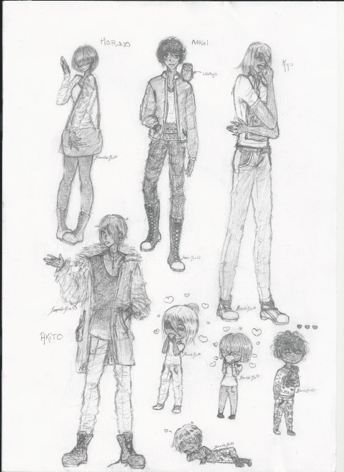 Haruno, Adriel, Kyo et Akito
