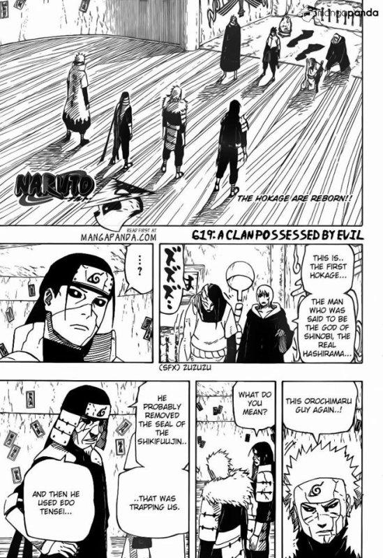 Nouveau Chapitre (en anglais) de Naruto Page 1