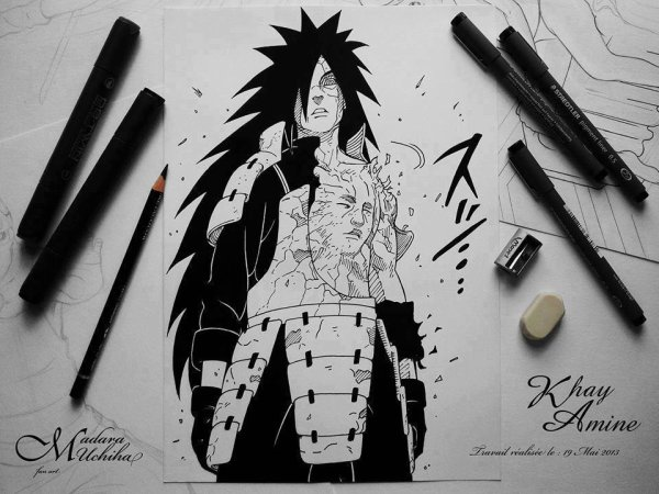 Dessin de Madara :) (Fan Art)