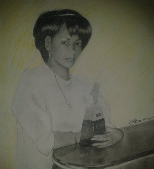 Portrait de ma mère jeune.