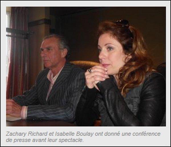 Zachary Richard et Isabelle Boulay, un duo magique !