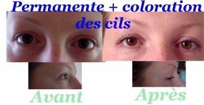 permanente de cil et coloration des cils - Coloration Des Cils