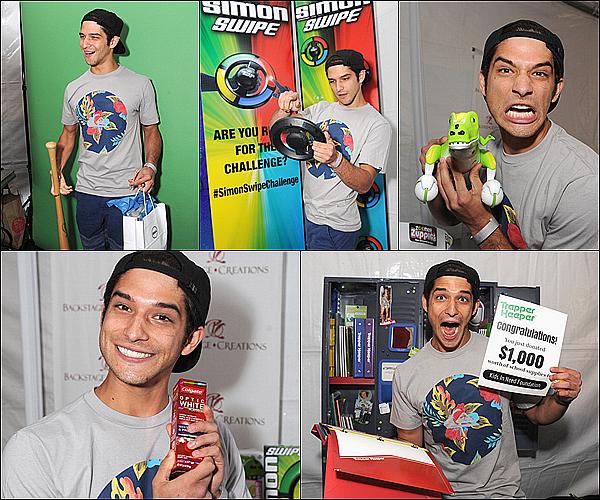 """.. 10/07/14 : Tyler présent aux """" Celebrity Retreat At Teen Choice """" pour une ½uvre caritative .  ."""