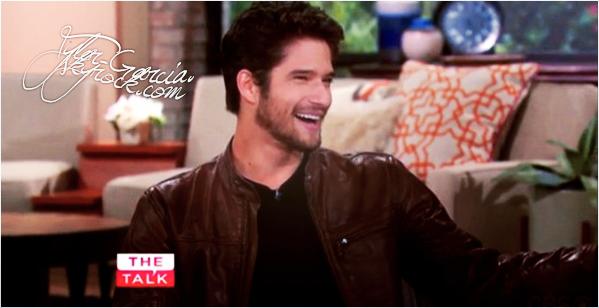 """.. 14/08/14 : Tylera donner une interview concernant la série Teen Wolf pour l'émission """"The Talk"""".  ."""