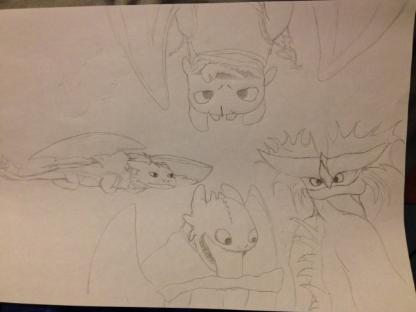 Dessin Dragons 2 Krokmou et Jumper