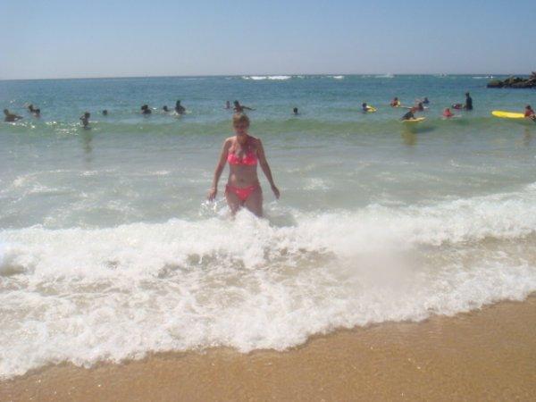 moi dans les vagues