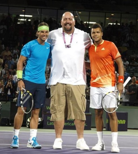 Nadal, Big Show et Jo-Wilfried Tsonga ♥