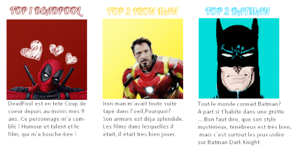 TOP 3 DES SUPERS HEROS LES PLUS BADASS