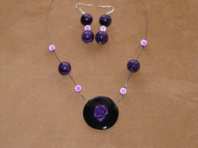 parure rose violette